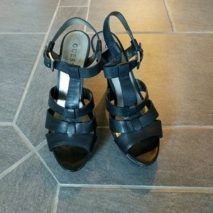 Guess platform sandal w/stiletto heels